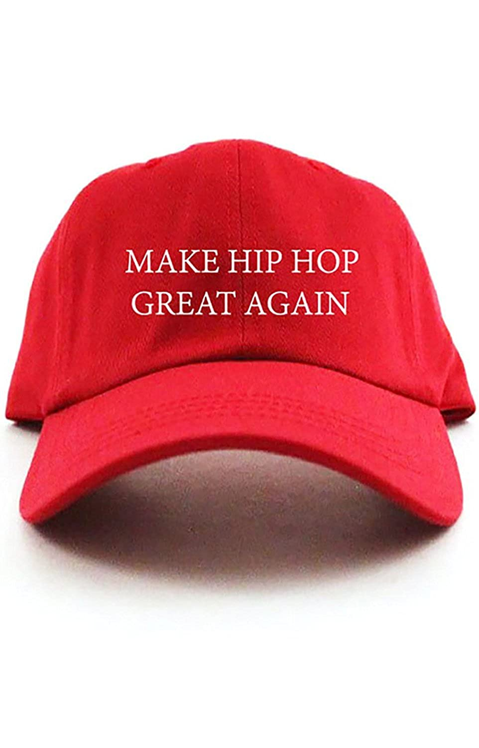 CUSTOM Make Hip Hop Great Again Unstructured Dad Hat - Red at Amazon Mens Clothing store:
