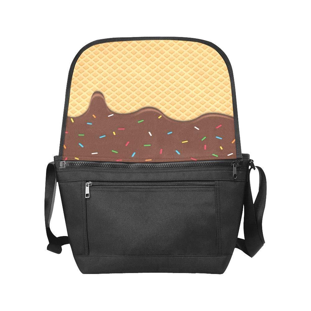 Black InterestPrint Funny Dessets Mens Womens Messenger Bag Crossbody Shoulder Bags for School Traveling