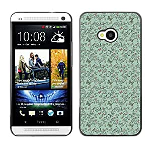 ZECASE Funda Carcasa Tapa Case Cover Para HTC One M7 No.0003728
