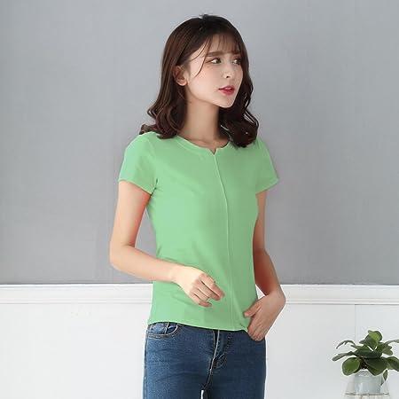 Camiseta de Manga Corta con Cuello Redondo de Mujer Camiseta ...