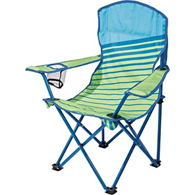 "Quest Junior Chair Green Blue Stripe Color (Dimensions: 22"" x 15"" x 26""): Sports & Outdoors"