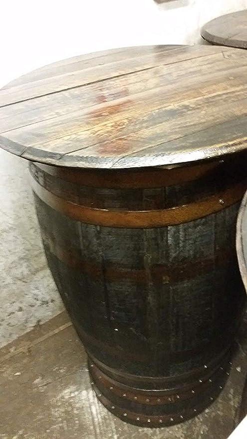 Cheeky Chicks Reciclado rústico Roble Whisky Barril Mesa de Patio ...