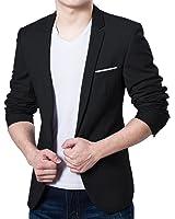 Pishon Men's Blazer Jacket Lightweight Casual Slim Fit One Button Sport Jackets