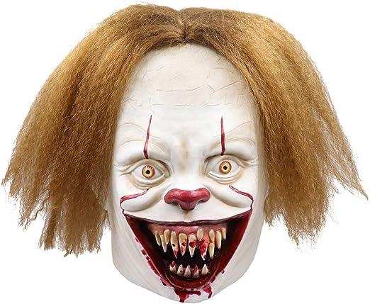 Máscara de Payaso de Halloween, Payaso de Terror Adulto Joker ...