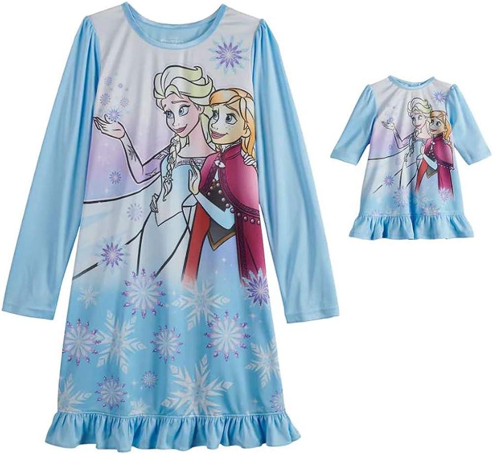 Elsa Anna Movie Dress Baby Girls Princess Pajamas Dresses Frozen Character