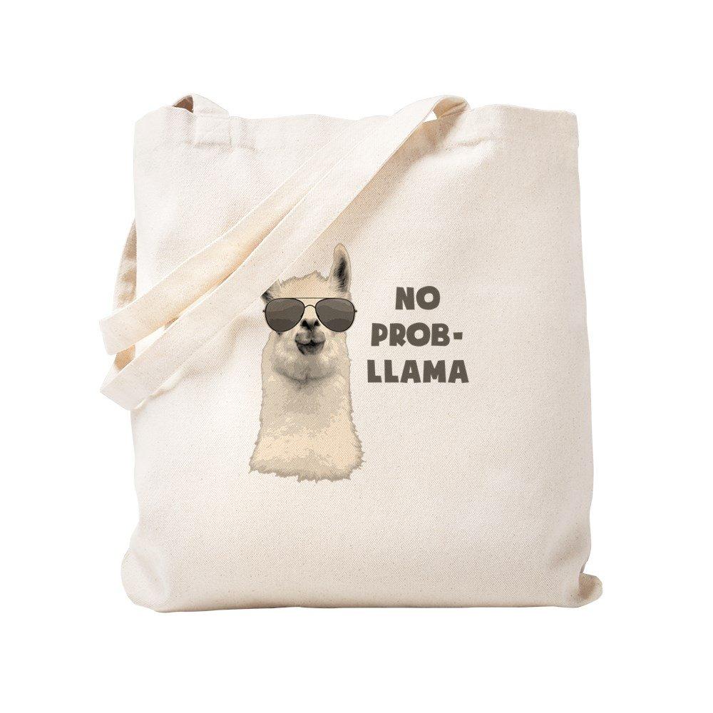 CafePress – No Problem Llama – ナチュラルキャンバストートバッグ、布ショッピングバッグ S ベージュ 1231542127DECC2 Small  B0773QBY7M
