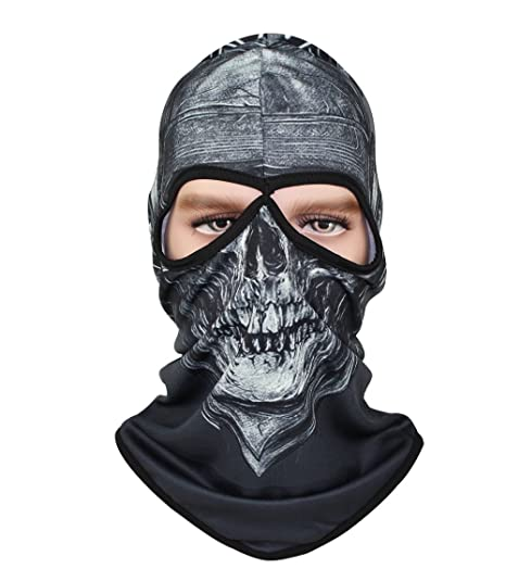 ae9f47491d46b GANWAY Polyester Sunscreen Breathable Ghost Skull Hat Full Motorcycle Face  Mask Ourdoor Men Ski Balaclavas Cs