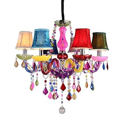 MyLjp Luz De Techo Lámpara De Colores 6 Llamas Lámpara ...