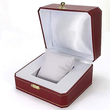SMEJS Reloj del Cuero de la Caja - Regalo Anillo de la Pulsera de Vino Rojo Retro Caja de empaquetado de Cuero: Amazon.es: Hogar