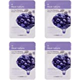 The Face Shop Real Nature Face Mask, Blueberry, 20g (Pack of 4)
