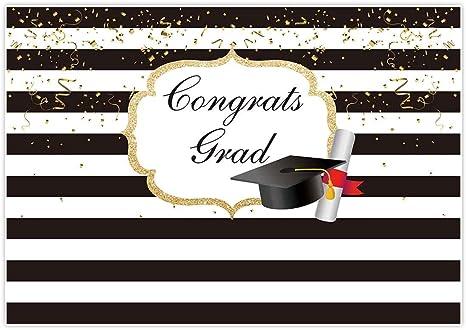 YongFoto 12x8ft Grad Class of 2020 Graduation Photography Background Champagne Silk Ribbon Confetti Black Trencher Cap Graduation Season Backdrop Ceremony Decoration Grad Prom Party Banner Wallpaper