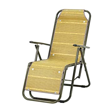 DHMHJH Sillones Lounge portátiles de bambú Lunch Break Lazy ...