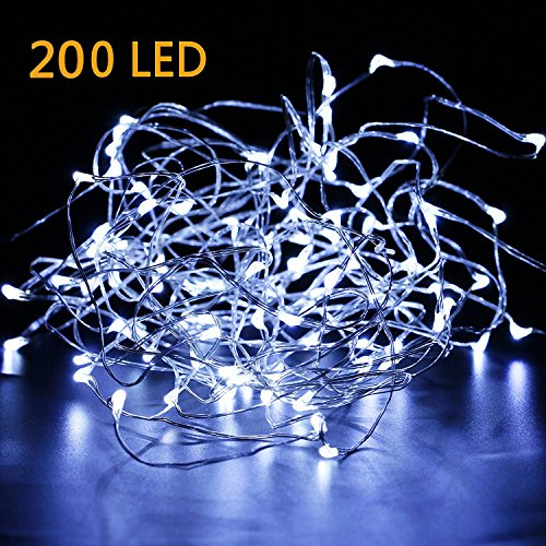EXTRA LONG 35ft 200LED The Original Starry String Lights Pure White Color LED's on a Flexible Sliver Copper Wire, Perfect For Parties, Bedrooms, Garden, Patio, Backyard, Indoor and Outdoor.