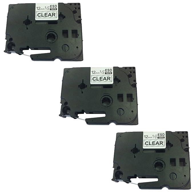 132 opinioni per 3x Nastro per Etichette compatibile per TZe131 / TZ131 Nero su Trasparente 12mm
