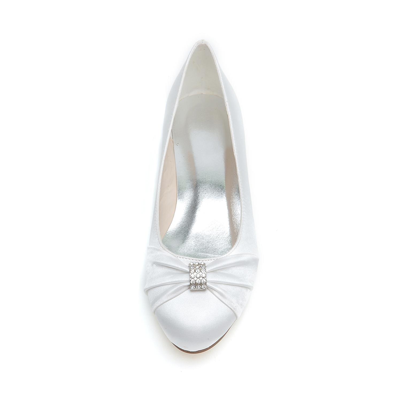 L@YC Frauen Hochzeitsschuhe 9872-06 Frühling Sommer Herbst Winter Abend & Freizeit Party & Abend Satin / Flache Schuhe Pink 52b639