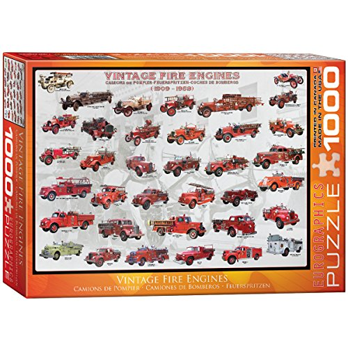 Antique Toys Fire Engine - EuroGraphics Vintage Fire Engines 1000 Piece Puzzle