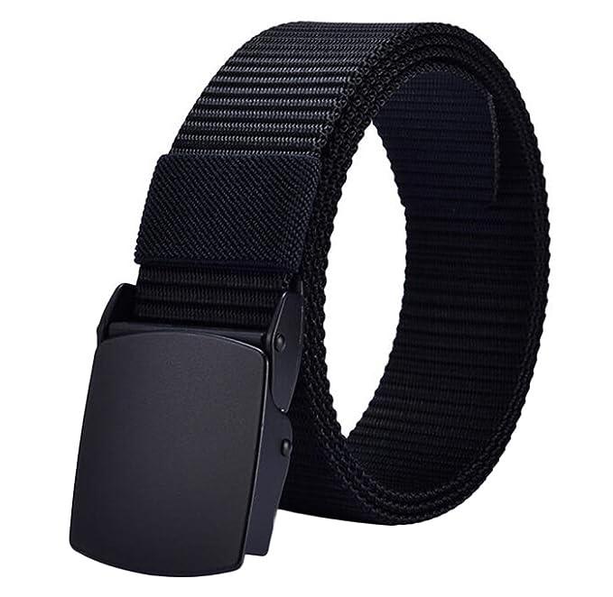 Nanxson Nylon Canvas Military Tactical Waist Belt Automatic Metal Buckle  49   Long for Men 657221c4d7