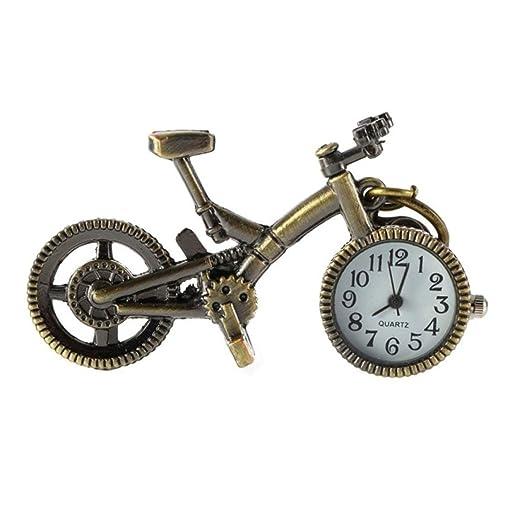 Zinniaya Moda Vintage Bronce Color Bicicleta Llavero Reloj ...