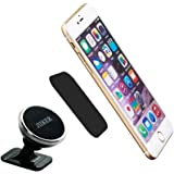Phone Holder Jiiker Universal Stick On Dashboard Magnetic Car Mount Holder for Cell Phones and Mini Tablets (Silver)