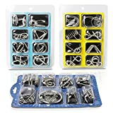 Teenitor Brain Teasers For Kids, 24 Pieces Wire Puzzles,IQ Toys Brain Teaser Toys Metal Wire Puzzles IQ Test Mind Game Toys Gift for Kids and Adults