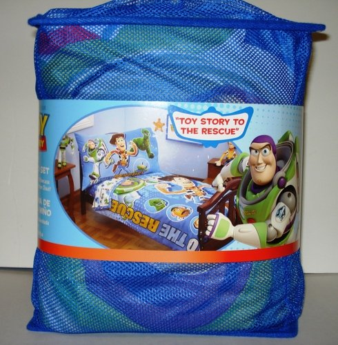 Toy Story Four Piece Toddler Bed Set'' Toy Story to the Rescue'' - Disney Toy Story Sheets