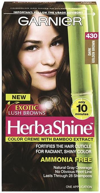Amazoncom Garnier Herbashine Haircolor Dark Golden Brown - Hair colour dark golden brown