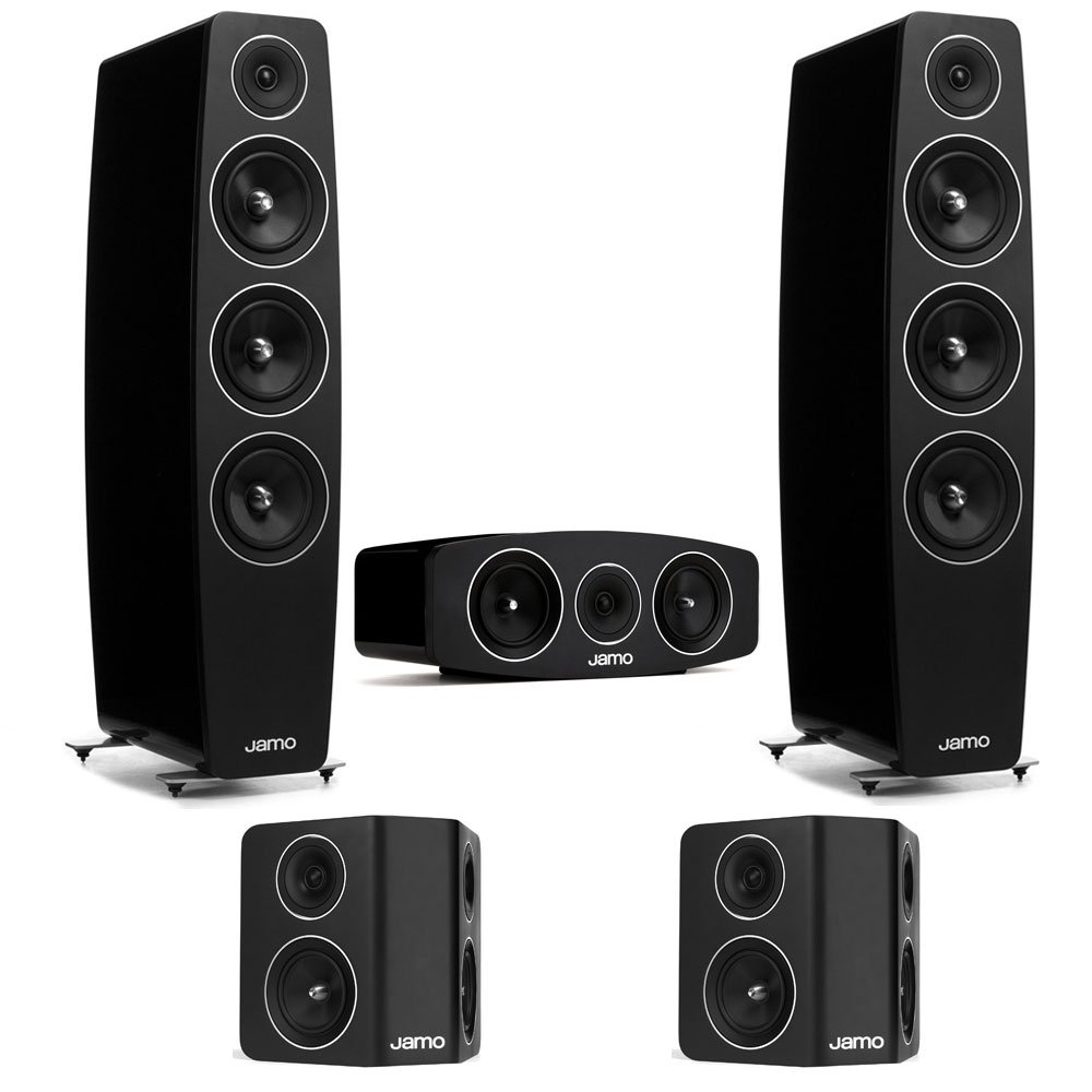 Jamo 5.0 Channel Home Theater System With C-109 Floorstanding Speakers