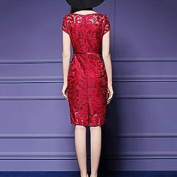 Vestido de mujer Vestidos de dama autocultivo net bordado de hilo Vintage  floral de encaje de 7a342f1d0565