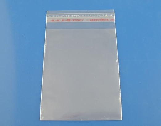 100 transparente adhesiva 5 cm x 5 cm cierre autoadhesivo ...
