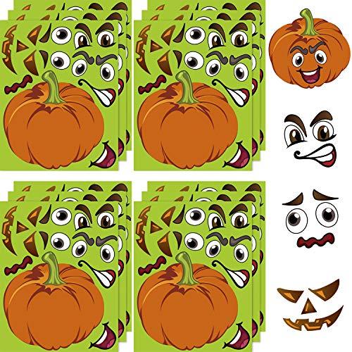 Make A Halloween Pumpkin Game (VEYLIN Make A Pumpkin Stickers, Jack-O-Lantern Halloween Stickers Decoration Halloween Themed Party Games for)