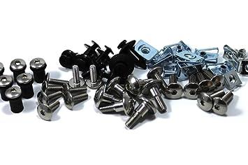 Suzuki GSX-R 1000 K7 K8 2007 - 2008 Embellecedores de acero inoxidable perno en forma de tornillos y protector de Kit: Amazon.es: Coche y moto