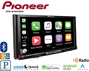 Volunteer Audio Pioneer AVH-W4400NEX Car Stereo Double Din Radio with Wireless Apple CarPlay, Android Auto, Bluetooth