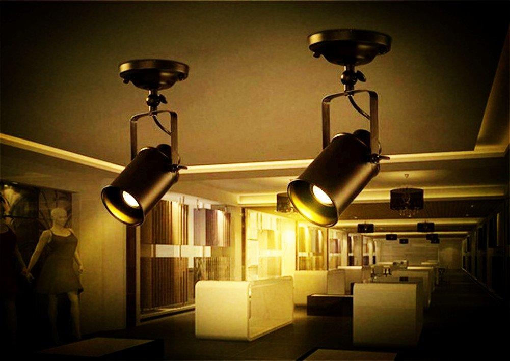 Jinyu retro industrielle 1 spot plafonnier en métal noir créatif