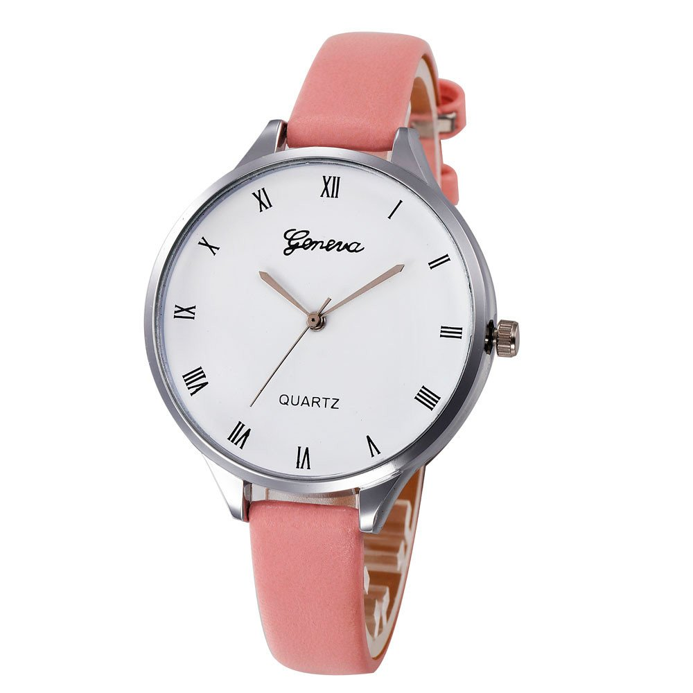 Zaidern Womens Leather Watches Unique Analog Quartz Fashion Clearance Lady Watches Female Watches on Sale Casual Wrist Watches for Women Round Dial Case Comfortable Classical Leather Watch