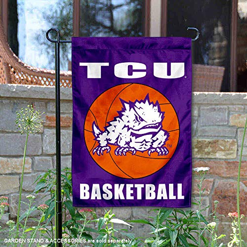 College Flags and Banners Co. Texas Christian Horned Frogs Basketball Garden Flag