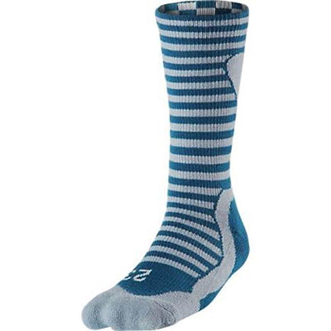Nike Air Jordan Retro Hombres de tripulación calcetines - 589046-415_L, Gris/Anaranjado: Amazon.es: Deportes y aire libre