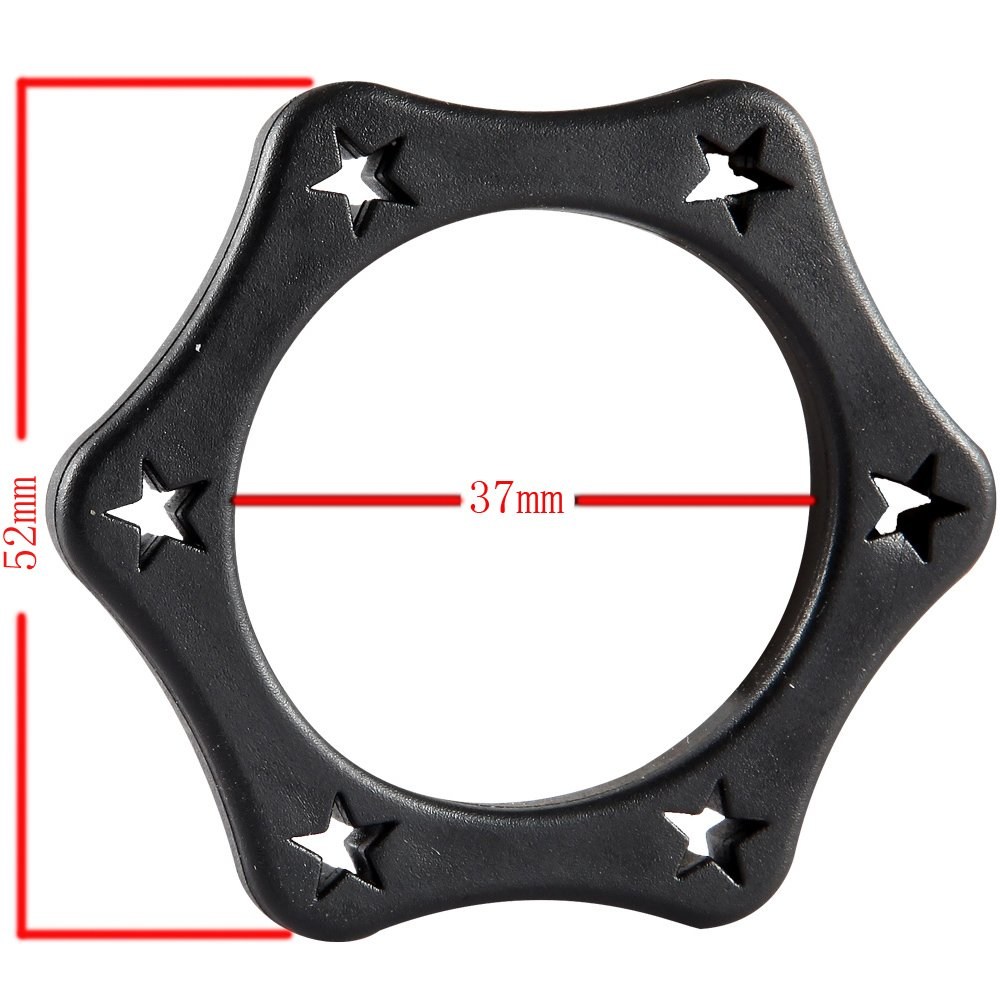10pcs Black Plastic Wireless Anti-rolling Protection Ring Microphone Shakeproof