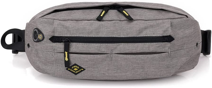 Vacio Sling Bag Lightweight Water Resistant Outdoor Waist Bag Chest Pack Crossbody Bags With Earphone Hole-Deep Gray