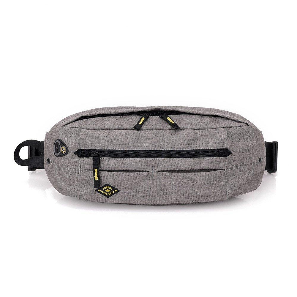 Businda Hiking Waist Bag, Slim Waist Belt with Earphone Hole Crossbody Sports Waist Bag Anti-theft Chest Bag for Men Women