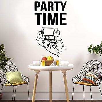 Tiempo de fiesta creativo Pegatinas de pared Autoadhesivo Papel ...
