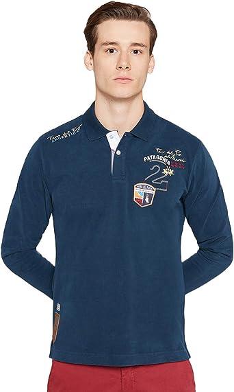 La Martina Man Polo L/s Heavy Jersey, Azul (Navy 07017), Large ...