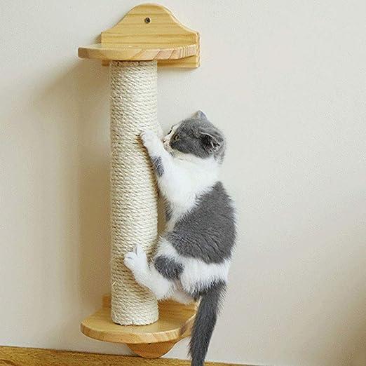 Cxjff Montado en la pared del gato que rasguña el poste, pared del gato Rascador sisal