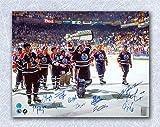 1990 Edmonton Oilers Team Signed Stanley Cup 16x20 Photo: 11 Autographs