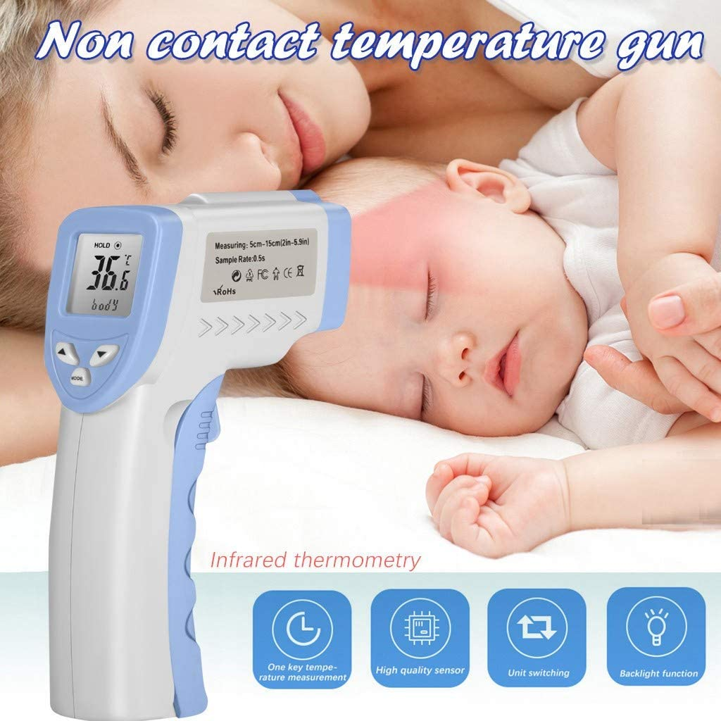 Sunnyys Non-Contact 1nfrar F0rehead Therm0meter Digital LCD Display Temp0ral Therm0meter For Kids Baby Accurate Instant Readings