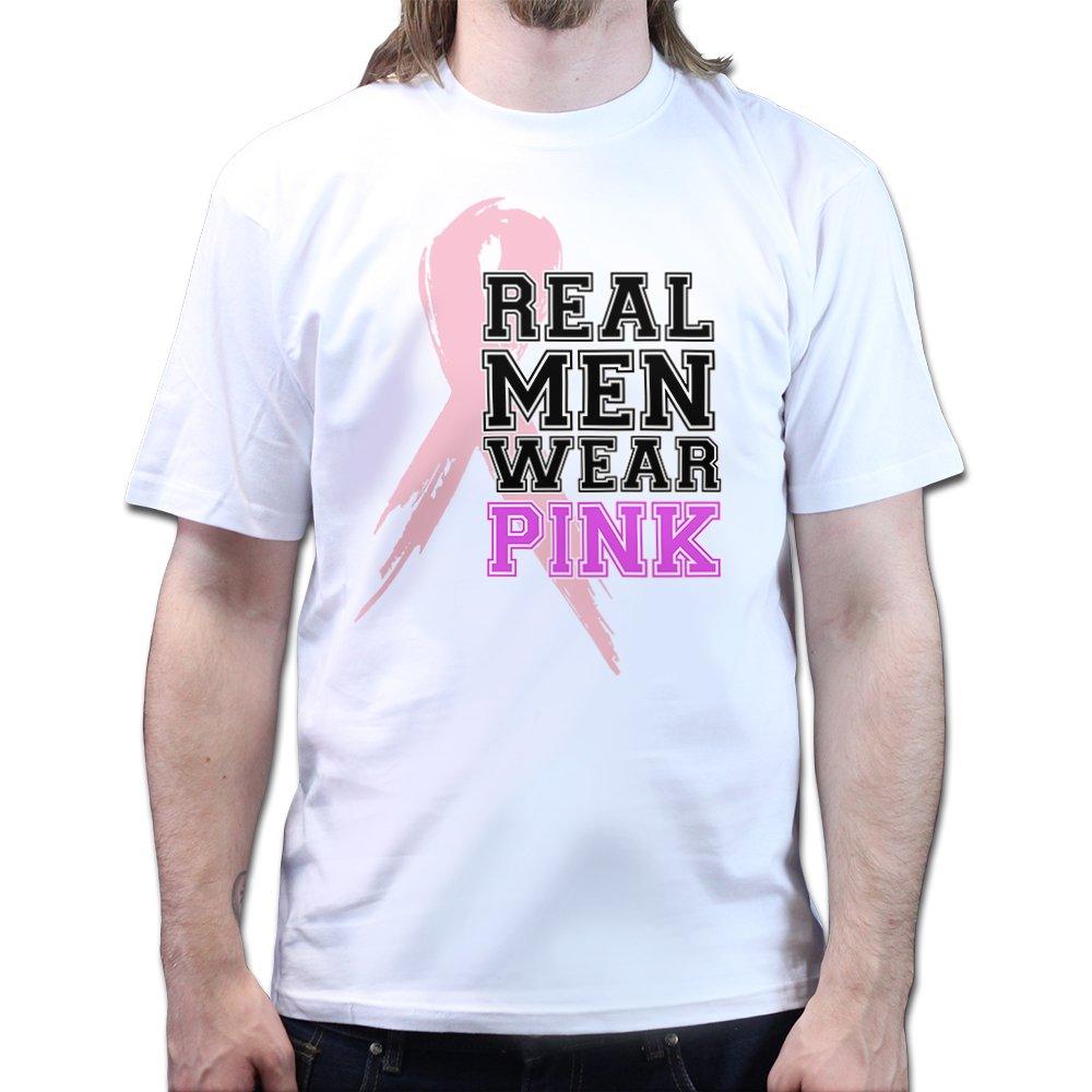 Real Men Wear Pink Rosa Breast Cancer Charity Awareness Brustkrebs Schleife  T-shirt: Amazon.de: Bekleidung