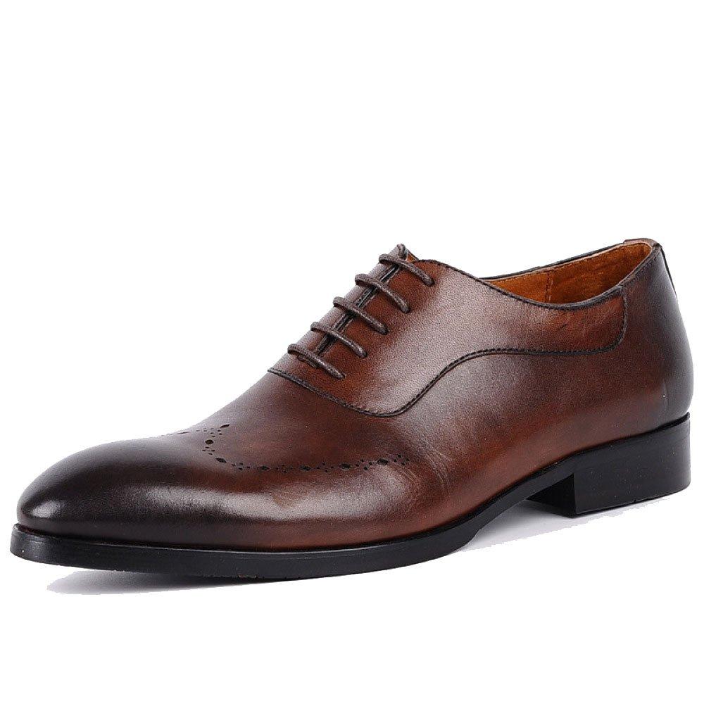 ZPFDY Männer Britisches Geschäft Europa Lässige Mode Hochzeit Schnürsenkel Leder Schuhes