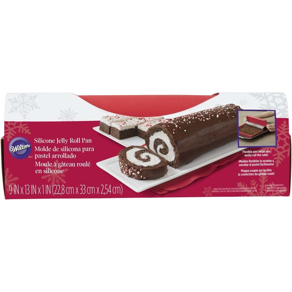Wilton Jelly Roll and Cookie Pans, 10 1/2 x 15 1/2 x 1 Inches Deep