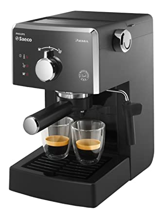 Philips Saeco - Cafetera (Independiente, Manual, Espresso machine, Coffee capsule, De café molido, americano, Capuchino, Café expreso, Negro, ...