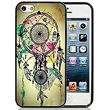 iPhone 5C Case,iPhone 5C Black Case, Dsigo TPU Full Cover Protective Case for New Apple iPhone 5C - Retro Aztec Dreamcatcher
