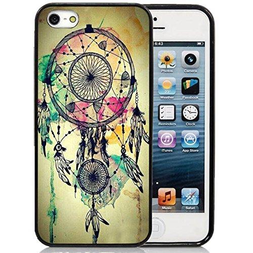 iPhone 5C Case,iPhone 5C Black Case, Dsigo TPU Full Cover Protective Case for New Apple iPhone 5C - Retro Aztec Dreamcatcher (Funny Quote Iphone 4 Case)